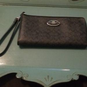 Black Coach Wallet/ Wristlet